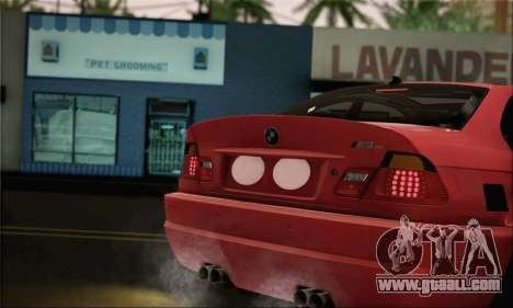 BMW M3 Coupe Tuned Version Burnout for GTA San Andreas back left view