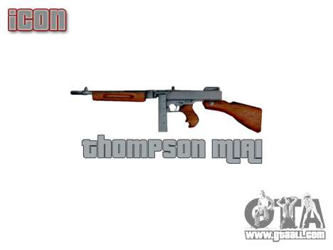 Submachine gun Thompson M1A1 box icon3 for GTA 4 third screenshot