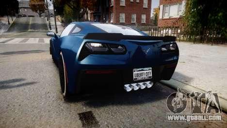 Chevrolet Corvette Z06 2015 TireBr3 for GTA 4 back left view