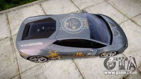 Lamborghini Huracan LP 610-4 2015 Blancpain for GTA 4 right view
