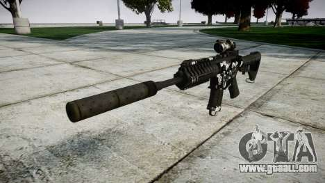 Автомат P416 ACOG silencer PJ3 target for GTA 4