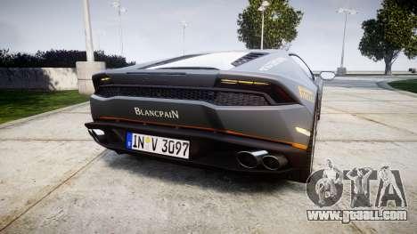 Lamborghini Huracan LP 610-4 2015 Blancpain for GTA 4 back left view