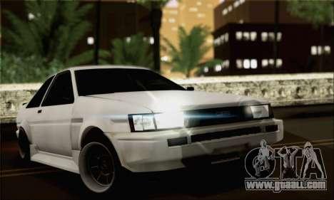 Toyota AE86 for GTA San Andreas