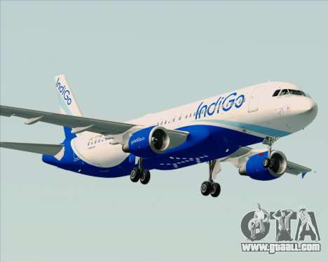 Airbus A320-200 IndiGo for GTA San Andreas right view