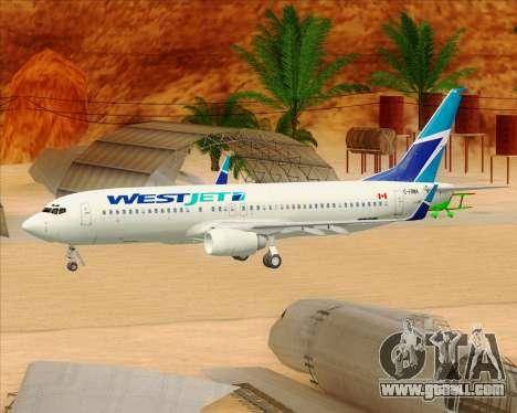 Boeing 737-800 WestJet Airlines for GTA San Andreas wheels