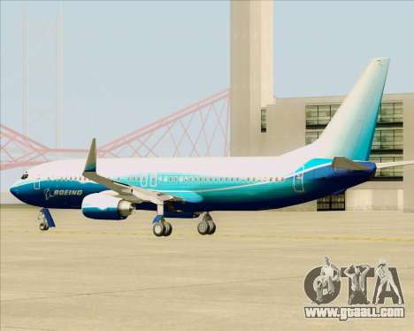 Boeing 737-800 House Colors for GTA San Andreas back view