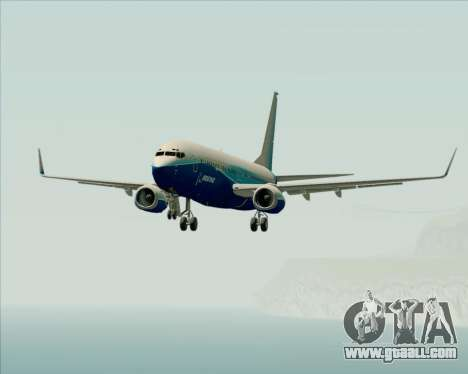 Boeing 737-800 House Colors for GTA San Andreas bottom view