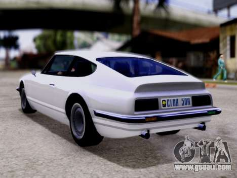Lampadati Pigalle GTA V for GTA San Andreas left view
