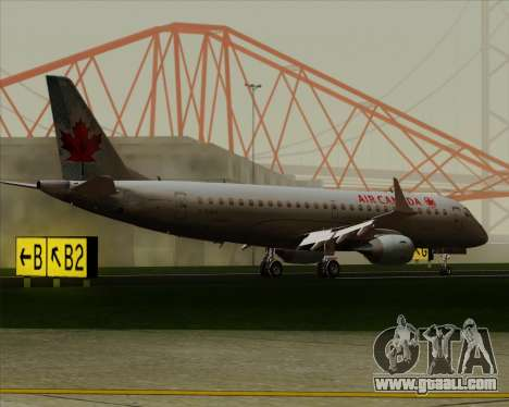 Embraer E-190 Air Canada for GTA San Andreas side view