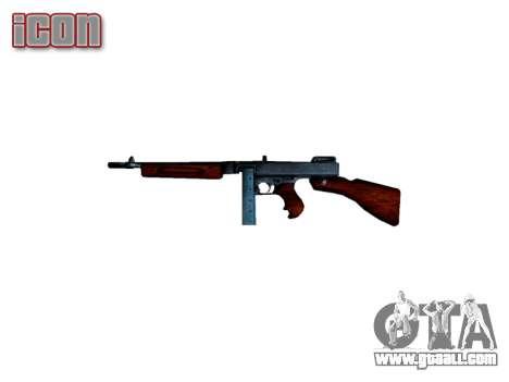 Submachine gun Thompson M1A1 box icon2 for GTA 4 third screenshot