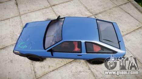 Toyota Corolla Levin (AE86) for GTA 4 right view