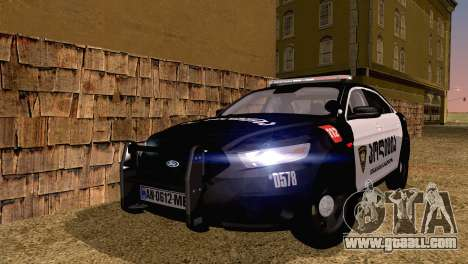Ford Taurus 2013 Georgia Police Car for GTA San Andreas