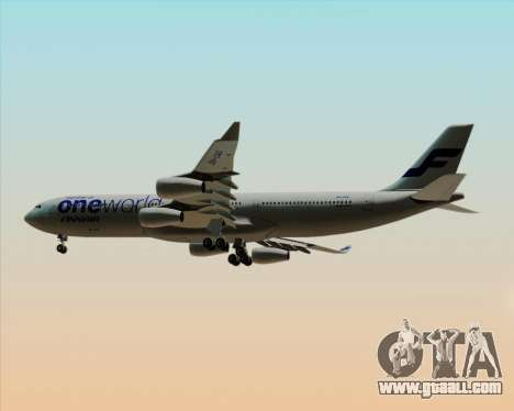Airbus A340-300 Finnair (Oneworld Livery) for GTA San Andreas right view