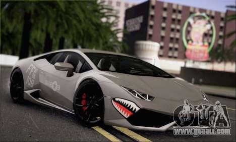 Lamborghini Huracan LP610-4 2015 for GTA San Andreas inner view