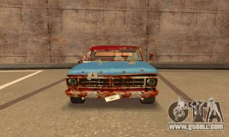 Ford PickUp Rusted for GTA San Andreas back left view
