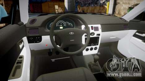 ВАЗ-Lada 2170 Priora Sapara for GTA 4 back view