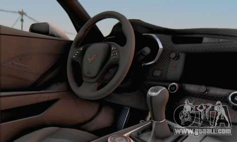 Chevrolet Corvette Stingray C7 2014 for GTA San Andreas right view