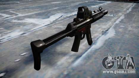 Gun MP5SD EOTHS FS b target for GTA 4 second screenshot