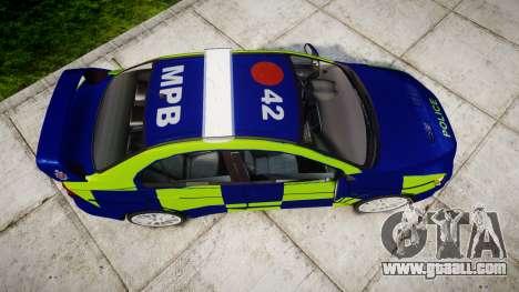 Mitsubishi Lancer Evolution X Police [ELS] for GTA 4 right view
