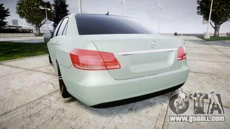 Mercedes-Benz E200 Vossen VVS CV5 for GTA 4 back left view