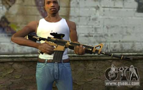 M4A1 from PointBlank for GTA San Andreas third screenshot