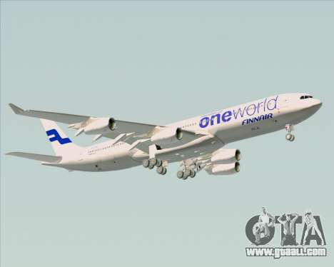 Airbus A340-300 Finnair (Oneworld Livery) for GTA San Andreas bottom view