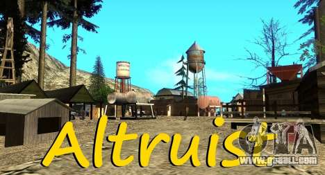 The Altruist camp on mount Chiliad for GTA San Andreas