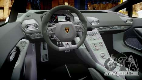 Lamborghini Huracan LP610-4 for GTA 4 back view