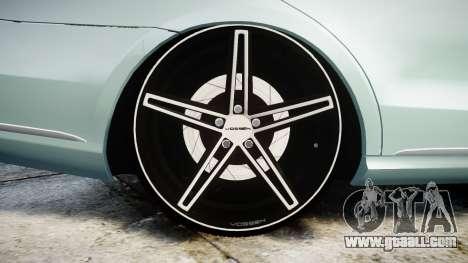 Mercedes-Benz E200 Vossen VVS CV5 for GTA 4 back view