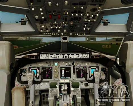 Boeing 737-800 WestJet Airlines for GTA San Andreas interior