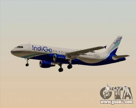 Airbus A320-200 IndiGo for GTA San Andreas side view