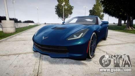 Chevrolet Corvette C7 Stingray 2014 v2.0 TirePi1 for GTA 4