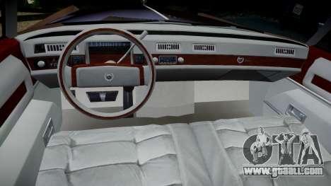 Cadillac Eldorado 1978 for GTA 4 back view