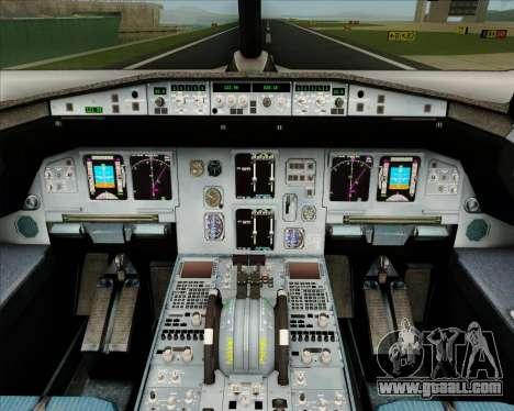 Airbus A320-200 IndiGo for GTA San Andreas interior