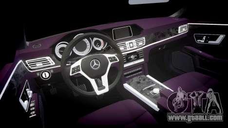 Mercedes-Benz E200 Vossen VVS CV5 for GTA 4 inner view