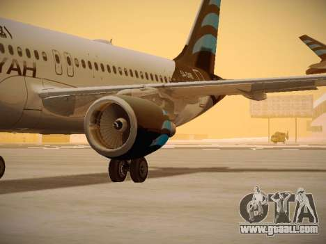 Airbus A320-214 Afriqiyah Airways for GTA San Andreas inner view