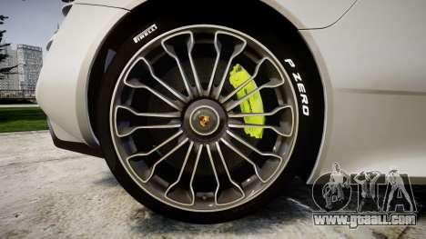 Porsche 918 Spyder 2014 for GTA 4 back view