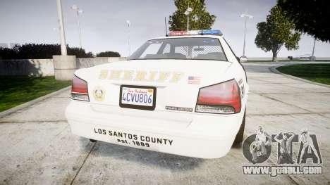 GTA V Vapid Police Cruiser Rotor [ELS] for GTA 4 back left view