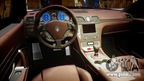 Maserati GranTurismo S 2010 PJ 3 for GTA 4 back view