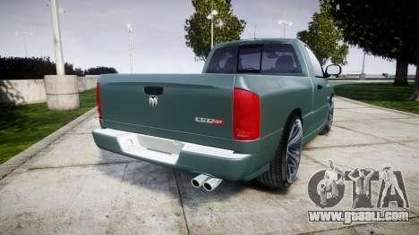 Dodge Ram for GTA 4 back left view