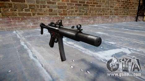 Gun MP5SD DRS FS b target for GTA 4