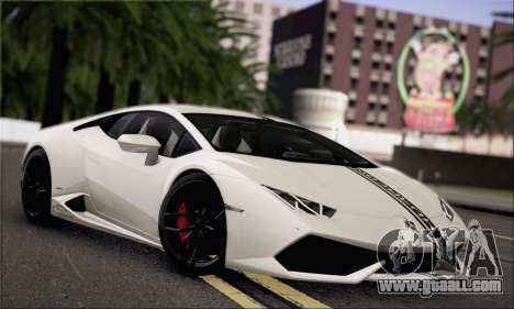Lamborghini Huracan LP610-4 2015 for GTA San Andreas upper view