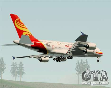 Airbus A380-800 Hainan Airlines for GTA San Andreas back view