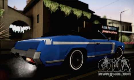 Sabre Convertible v1.0 for GTA San Andreas left view