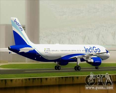 Airbus A320-200 IndiGo for GTA San Andreas
