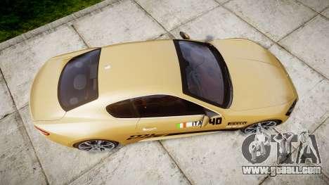 Maserati GranTurismo S 2010 PJ 1 for GTA 4 right view