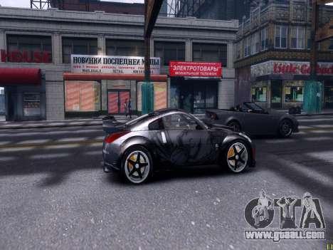 Nissan 350Z Tokyo Drift for GTA 4 back view