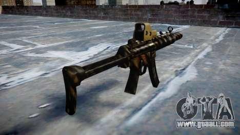Gun MP5SD EOTHS FS c target for GTA 4 second screenshot