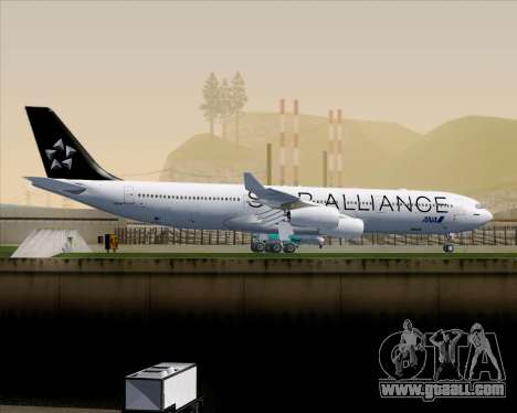 Airbus A340-300 All Nippon Airways (ANA) for GTA San Andreas back view