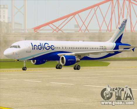 Airbus A320-200 IndiGo for GTA San Andreas left view